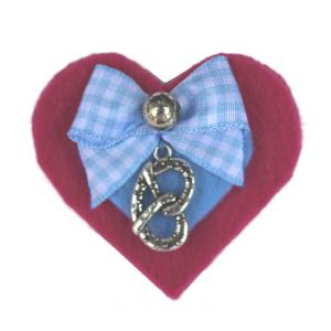 Isar Liesl Herzerl Brosche Pink Hellblau Breze